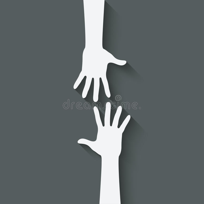 Pomocna dłoń symbol ilustracji