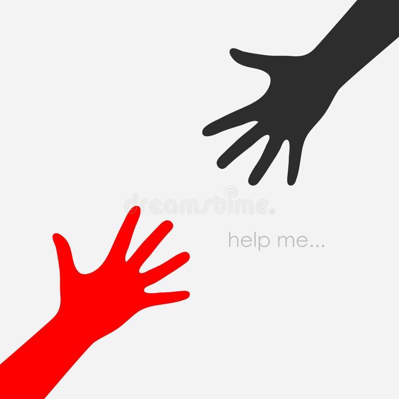 Pomocna dłoń wektoru ikona royalty ilustracja