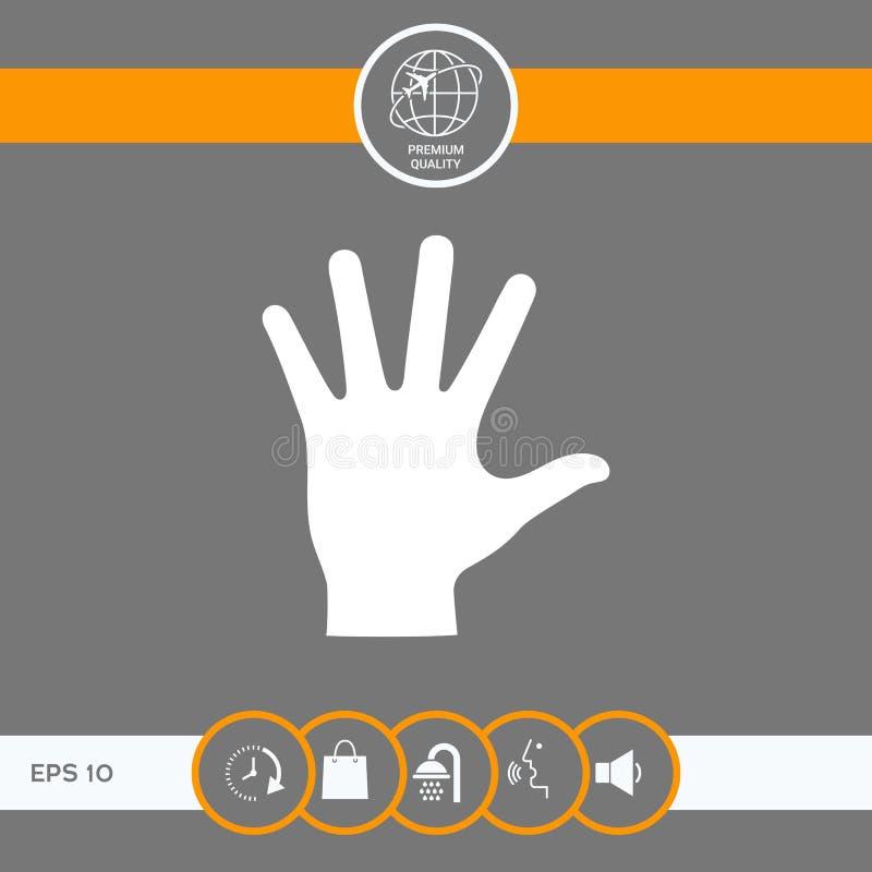 Pomocnej dłoni sylwetki ikona royalty ilustracja