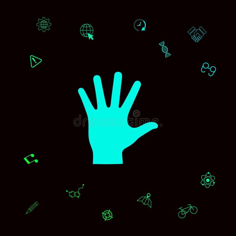 Pomocnej dłoni sylwetki ikona Graficzni elementy dla twój designt ilustracja wektor