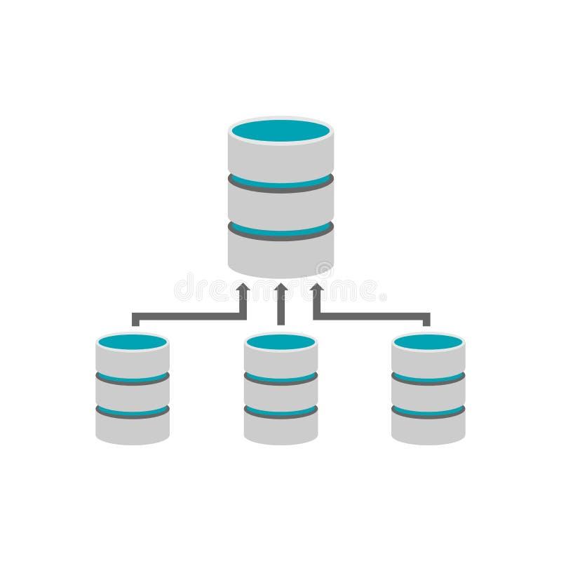 Pomocnicza baza danych Bazy danych zarządzanie royalty ilustracja