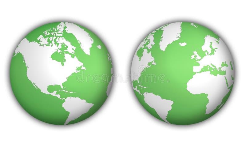 pomocniczy globus świat ilustracji