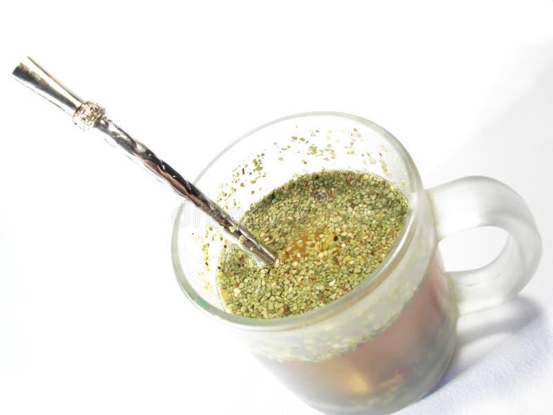 pomocniczy kubek herbaty partnera zdjęcie royalty free