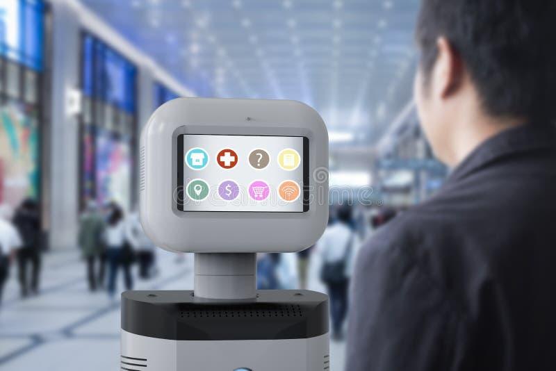 Pomocniczy robot z oprogramowaniem zdjęcie stock