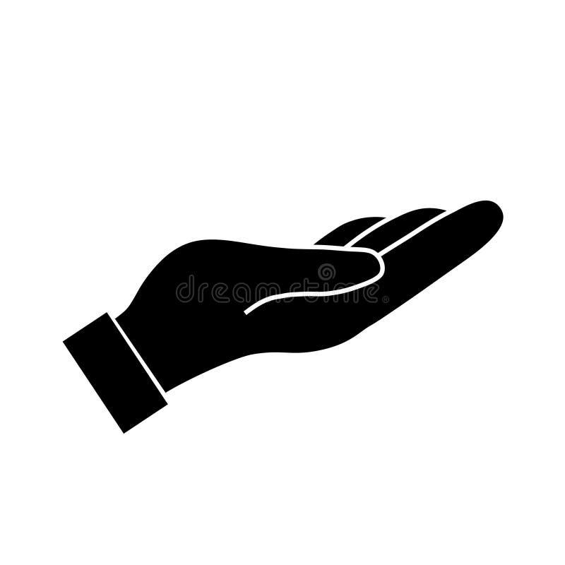 Pomocy i gacenia ręka ilustracja wektor