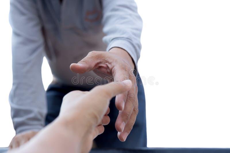 Pomocy pojęcia mężczyzna dojechanie pomagać odosobnionemu zdjęcia royalty free