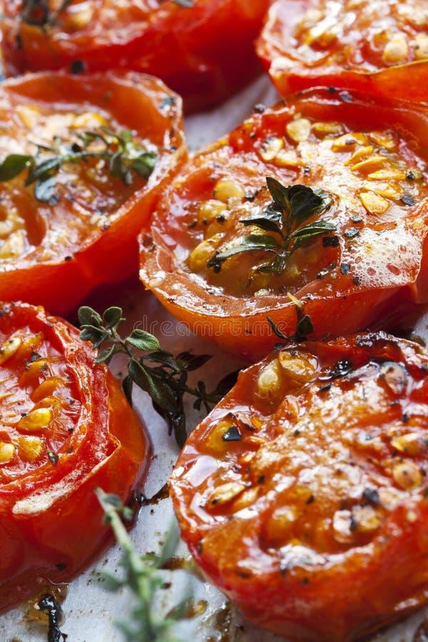 Pomodori di ciliegia arrostiti immagine stock