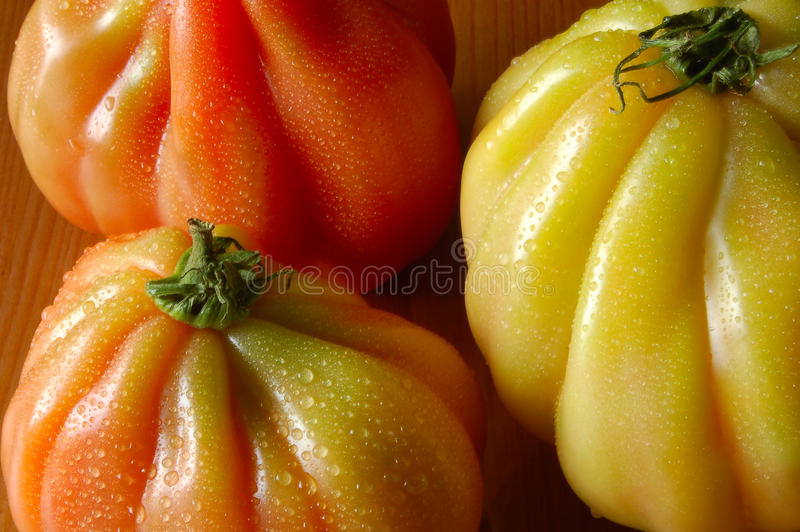 Pomodori di Heirloom fotografie stock