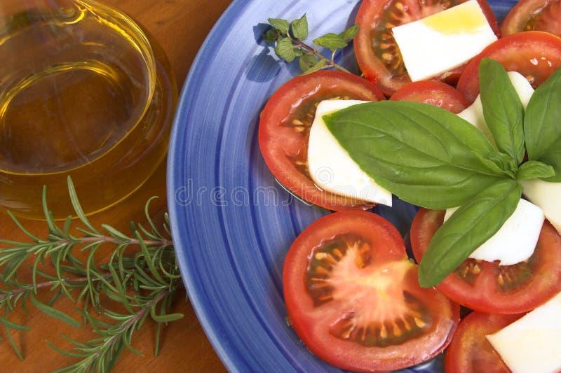 Pomodori e mozzarella immagini stock