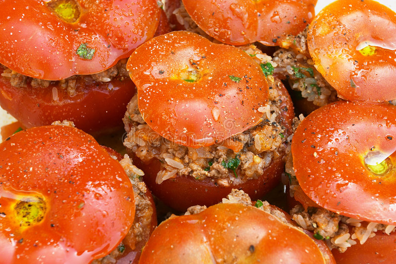 Pomodori farciti immagini stock