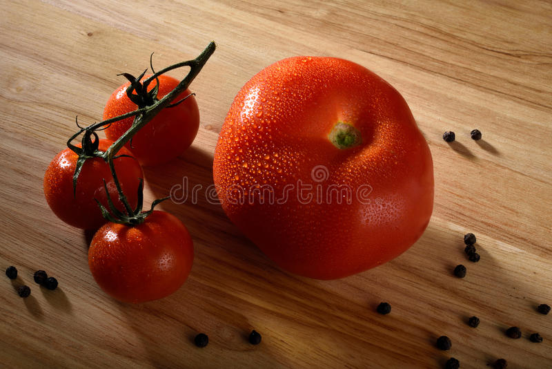 Pomodori freschi immagine stock