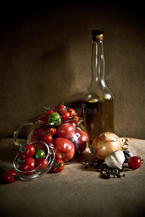 Natura morta con i pomodori fotografia stock libera da diritti
