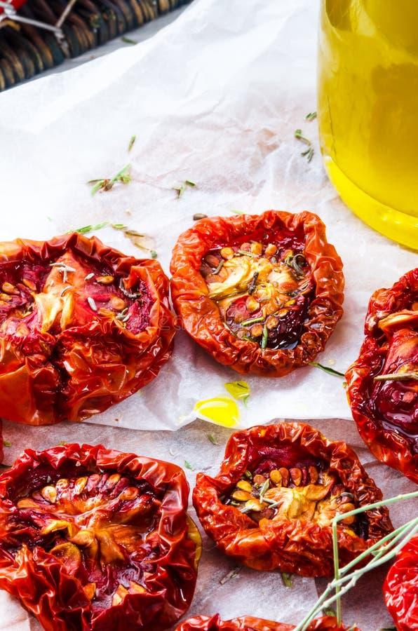 Pomodori secchi fotografie stock