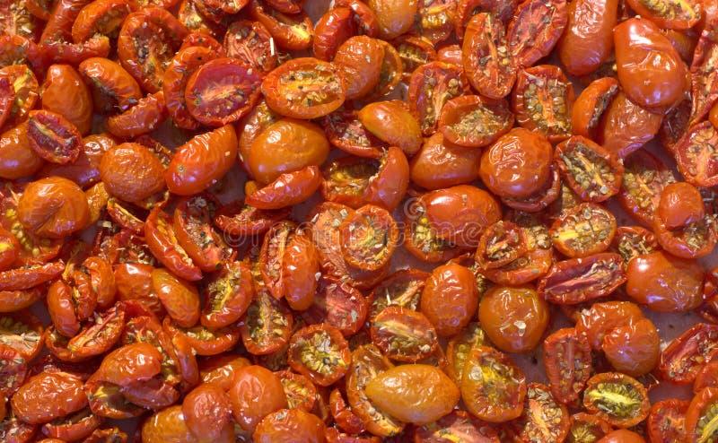 Pomodori secchi nel forno immagini stock libere da diritti