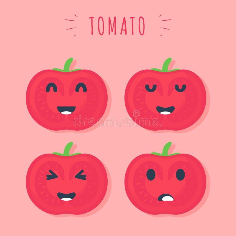 Pomodori svegli royalty illustrazione gratis