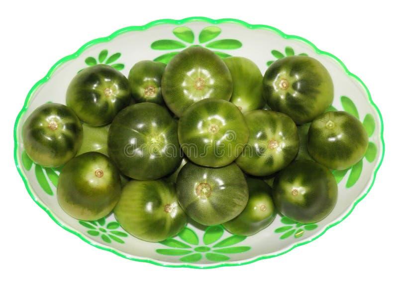 Pomodori verdi immagini stock