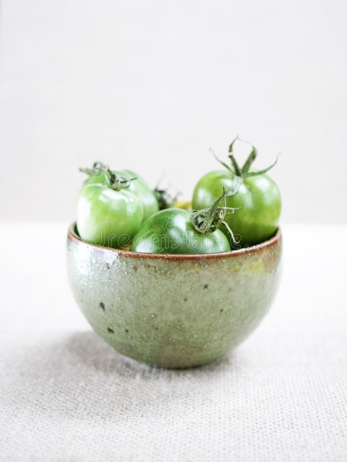 Pomodori verdi freschi immagine stock libera da diritti