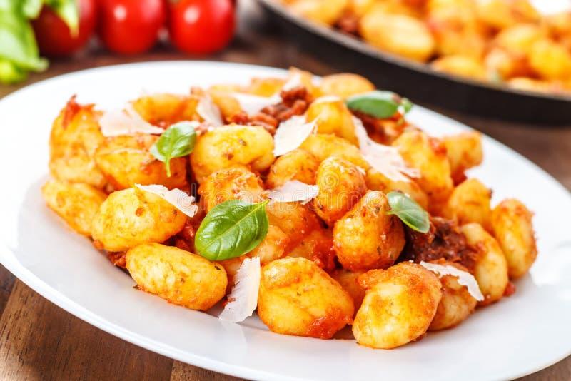 Pomodoro do engodo do Gnocchi fotos de stock