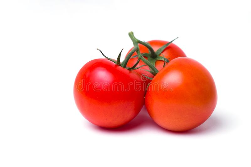 Pomodoro nel fondo bianco isolato fotografia stock libera da diritti