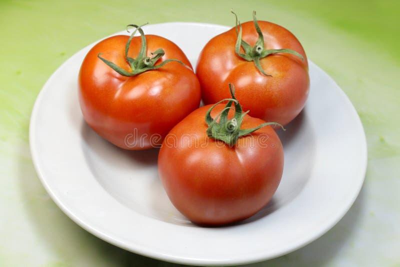 pomodoro rosso dal bio- giardino fotografie stock libere da diritti