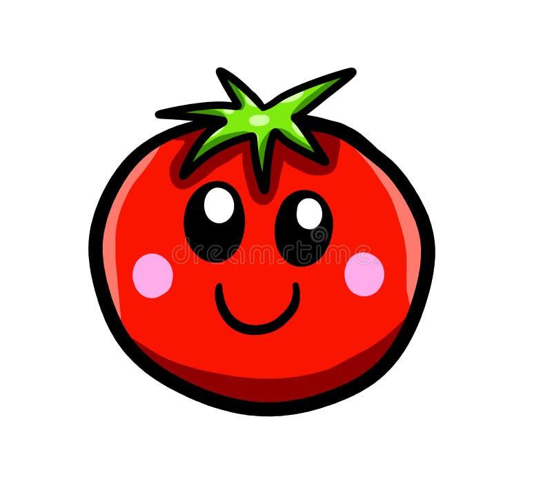 Pomodoro sorridente felice del fumetto royalty illustrazione gratis