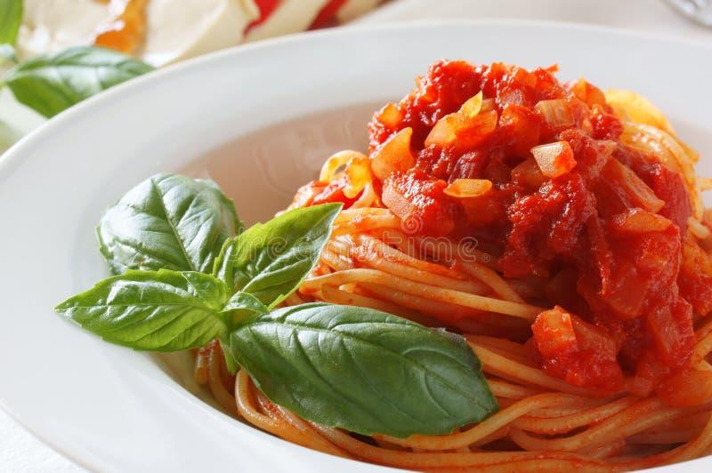 Pomodoro van de spaghetti royalty-vrije stock afbeelding