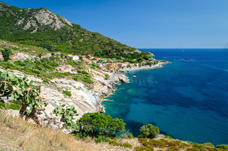 Pomonte (Isola d'Elba Italy). In a summer day stock photography