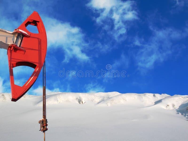 Pompa della neve fotografie stock