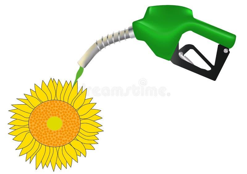 Pompa di benzina illustrazione di stock