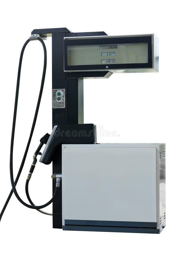 Pompa di benzina isolata fotografia stock