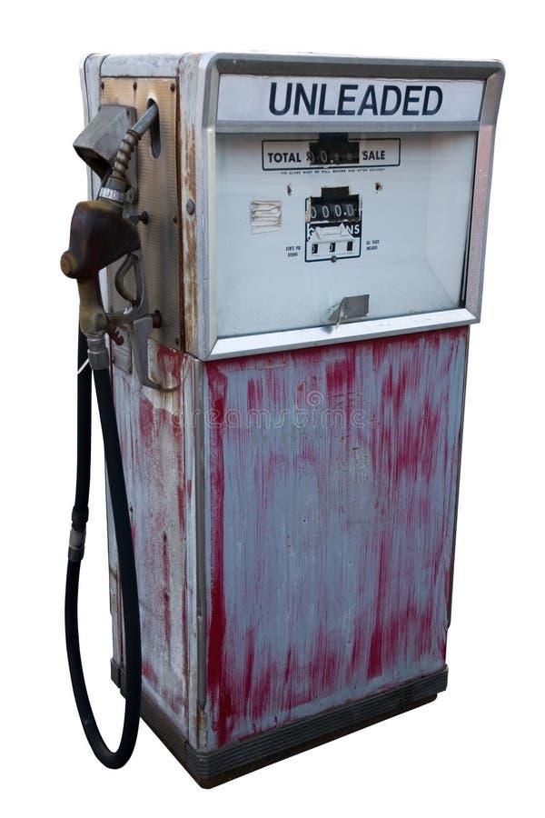 Pompa di gas abbandonata immagine stock