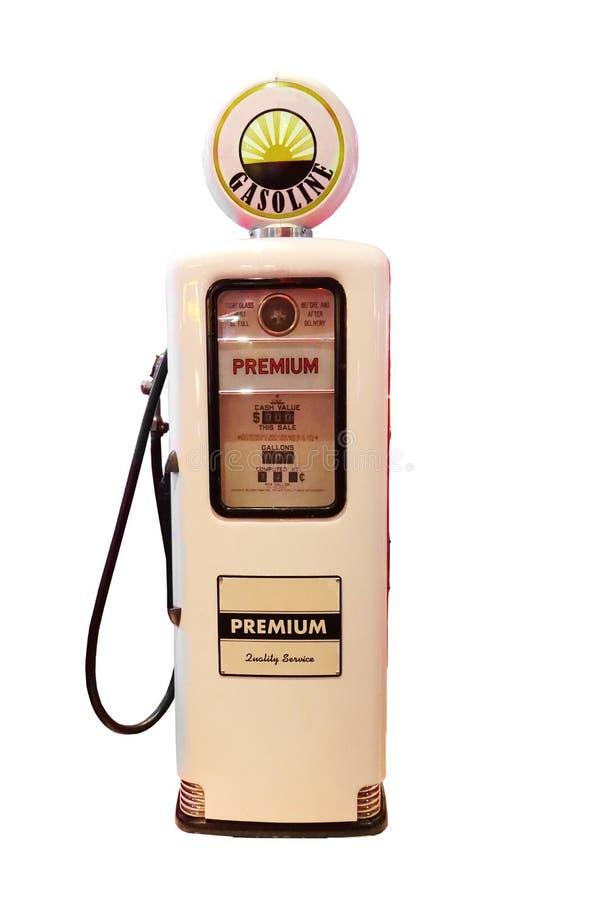 Pompa di gas d'annata isolata fotografie stock libere da diritti