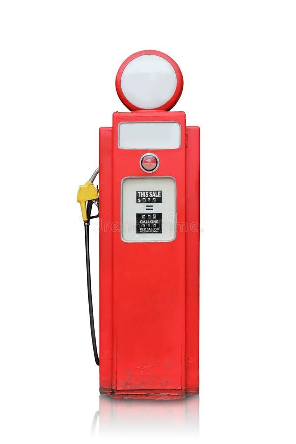 Pompa di gas d'annata isolata immagine stock libera da diritti