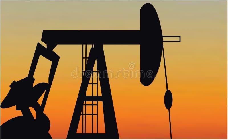 Pompa di olio illustrazione vettoriale