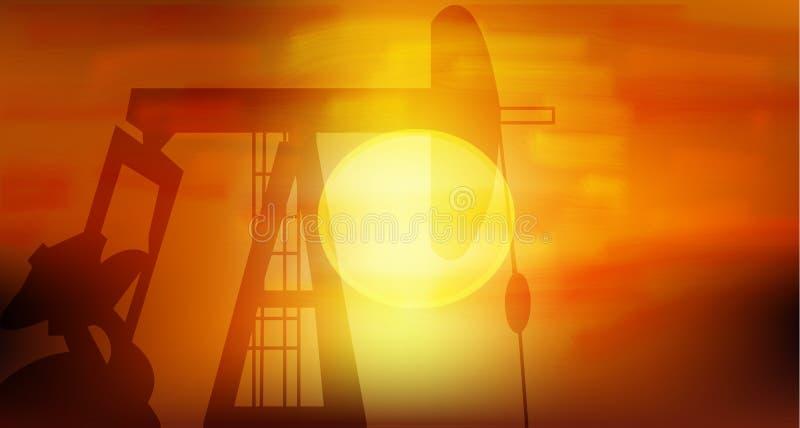 Pompa di olio royalty illustrazione gratis