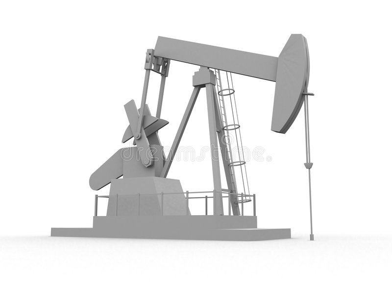 Pompa di olio illustrazione di stock
