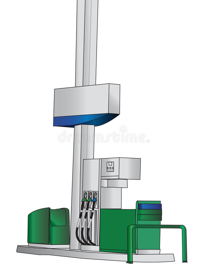 Pompa di riempimento della benzina royalty illustrazione gratis