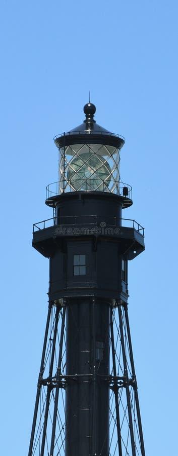 pompano маяка fl пляжа черный стоковое изображение rf