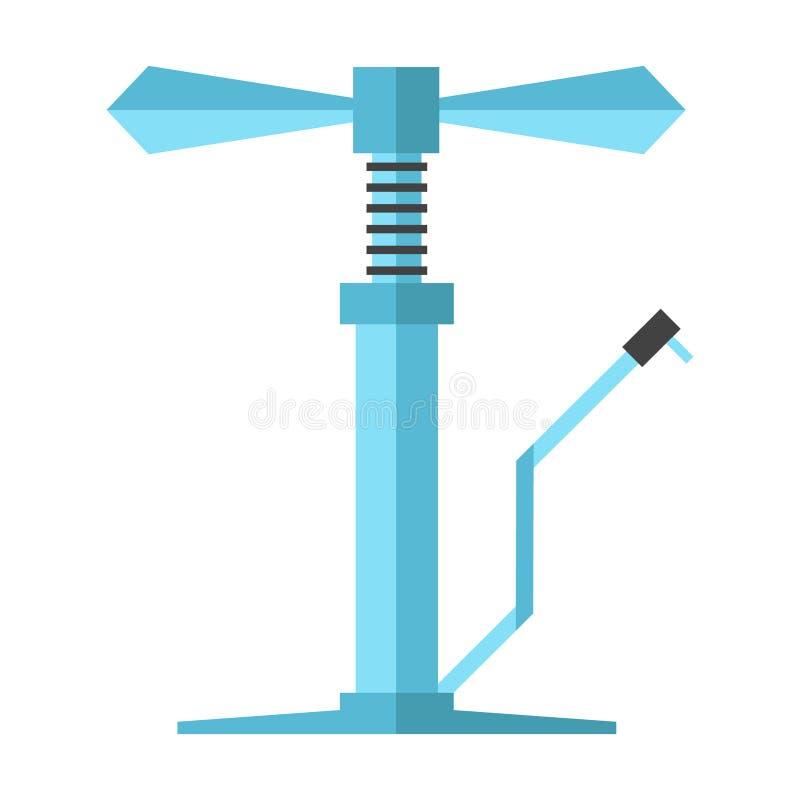 Download Pompe à Bicyclette Bleue Angulaire Illustration de Vecteur - Illustration du fond, réparation: 45371878