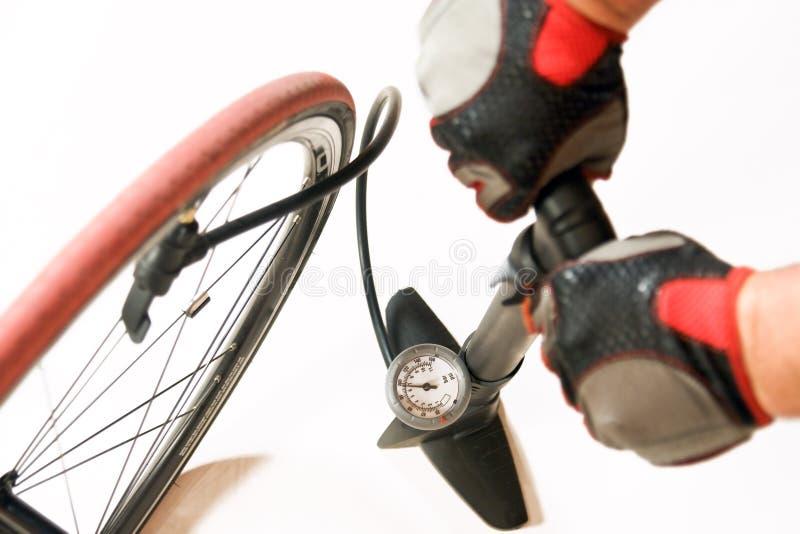 pompe à bicyclette d'air photographie stock