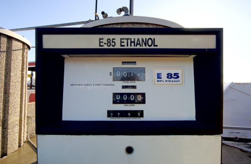 Pompe à essence d'éthanol image libre de droits