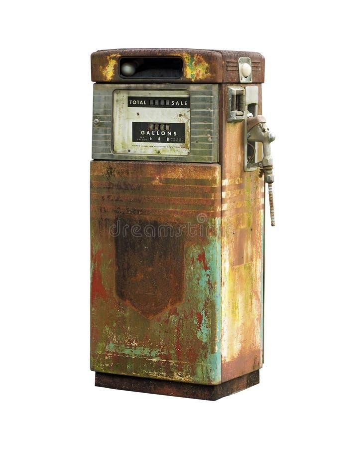 Pompe à essence d'isolement de vintage image libre de droits