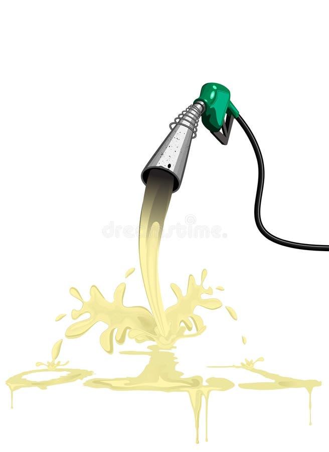 pompe à essence de gas-oil d'essence diesel illustration de vecteur