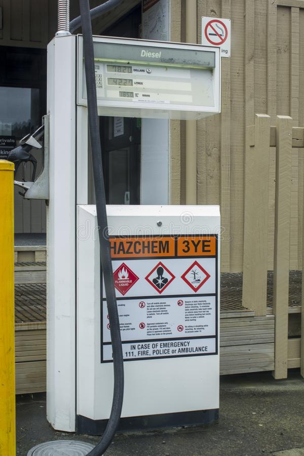 Pompe à essence de station service photos libres de droits