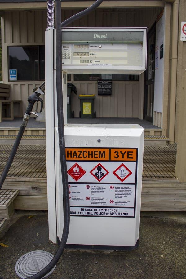 Pompe à essence de station service images libres de droits
