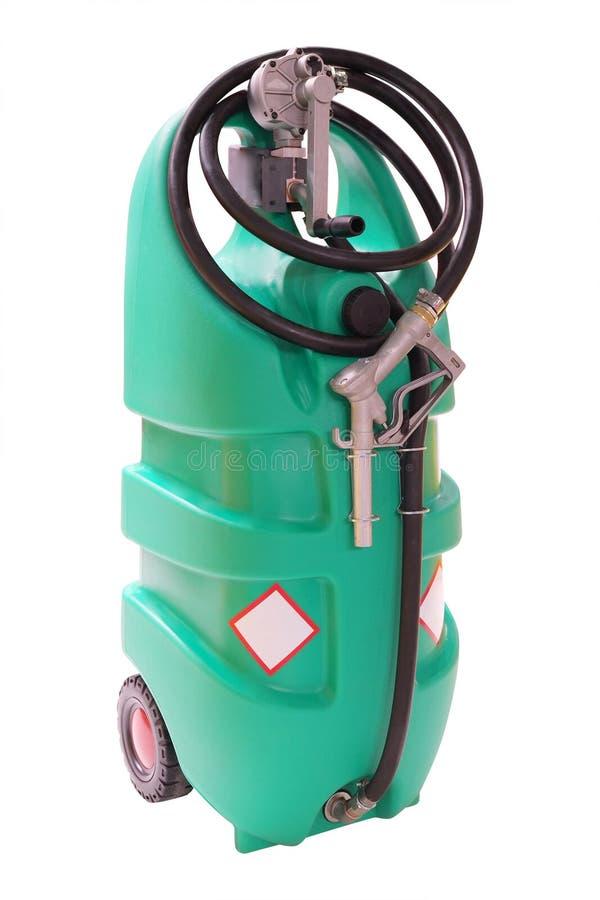 Pompe à essence en plastique image libre de droits