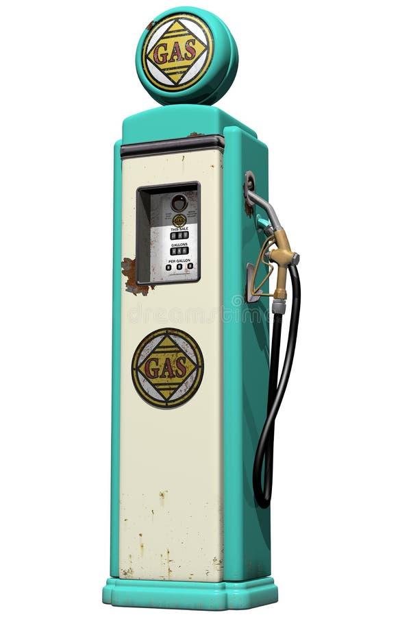 Pompe à gaz de cru illustration libre de droits
