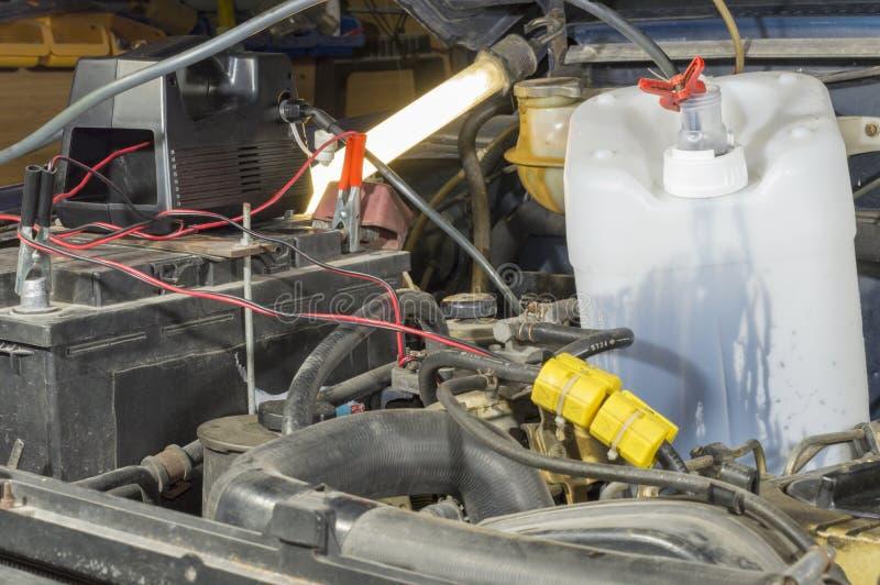 Pompe à huile de moteur photographie stock