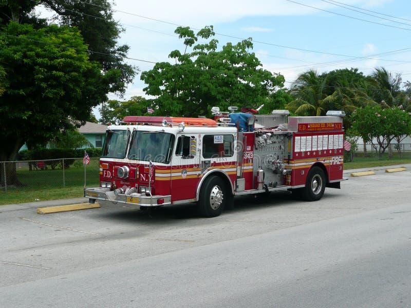 Pompe à incendie de 911 N Y C retirée à la Floride photos libres de droits
