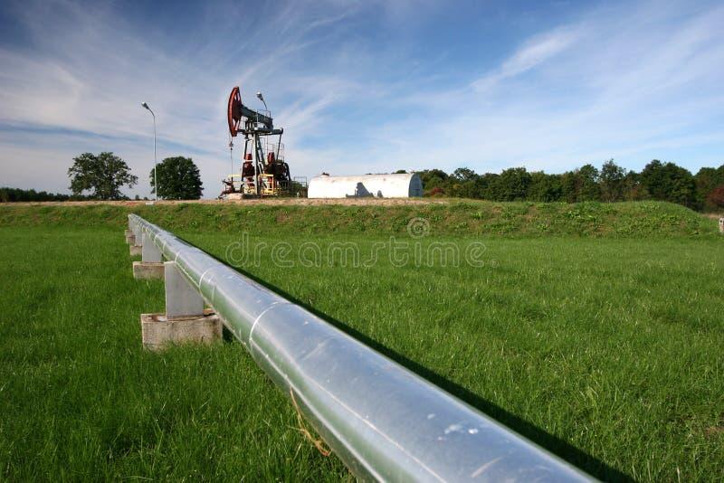 Pompe de canalisation et de pétrole photos stock